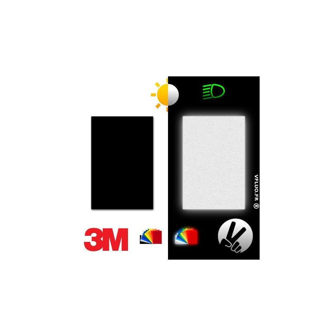 3M™ REFLECTIVE BLACK Adhesive Tape for the motorcycle and helmet