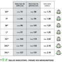 FULL PROTECT SWEATSHIRT™ French size guide - The measurements of our protective sweatshirt for motorcyclists