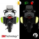 Kit 3M™ - BMW suitcases R1200RT / R1200R / 1200RS - fluorescent yellow sticker - retro reflective